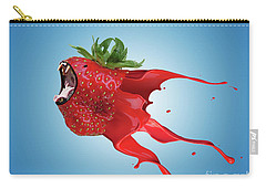 Carry-all Pouch featuring the photograph The New Gmo Strawberry by Juli Scalzi