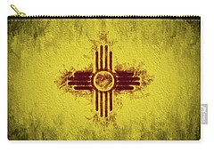 The New Mexico Flag Carry-all Pouch by JC Findley