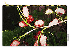 Carry-all Pouch featuring the digital art The New Mulberries by Winsome Gunning