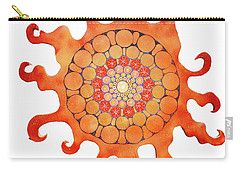 Carry-all Pouch featuring the painting The New Sun by Patricia Arroyo