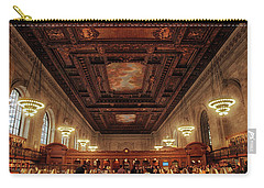 Carry-all Pouch featuring the photograph The New York Public Library by Jessica Jenney