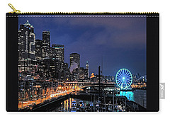 The Night Before Super Bowl Xlix, 2014, Seattle Waterfront Carry-all Pouch