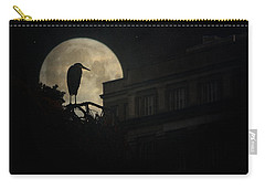 Carry-all Pouch featuring the photograph The Night Of The Heron by Chris Lord