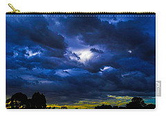 The Night Of The Storm Carry-all Pouch by Mark Blauhoefer