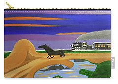 Carry-all Pouch featuring the painting The Night Race by Margaret Harmon