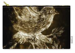 The Night Sparrow Carry-all Pouch by Maria Urso
