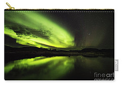 The Northern Lights Thingvellir Carry-all Pouch by Gunnar Orn Arnason