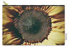 Carry-all Pouch featuring the photograph The Not So Sunny Sunflower by Karen Stahlros