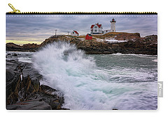 Carry-all Pouch featuring the photograph The Nubble After A Storm by Rick Berk