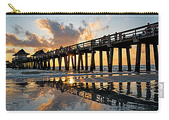 Naples Pier At Sunset Naples Florida Ripples Carry-all Pouch