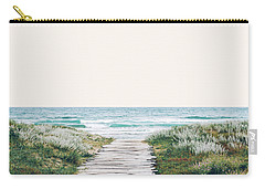The Ocean Is Calling And I Must Go  Carry-all Pouch by Uma Gokhale