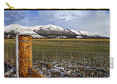 Carry-all Pouch featuring the photograph The Ochils In Winter by Jeremy Lavender Photography