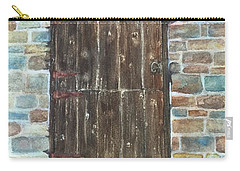 Carry-all Pouch featuring the painting The Old Barn Door by Lucia Grilletto