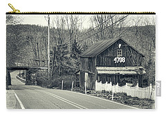 Carry-all Pouch featuring the photograph The Old Barn by Mark Dodd