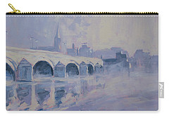 The Old Bridge Of Maastricht In Morning Fog Carry-all Pouch