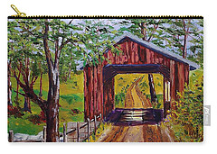 The Old Covered Bridge Carry-all Pouch by Mike Caitham