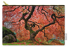 The Old Japanese Maple Tree In Autumn Carry-all Pouch