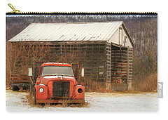Carry-all Pouch featuring the photograph The Old Lumber Truck by Lori Deiter