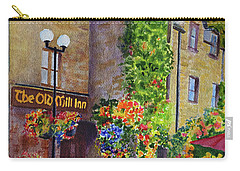 Carry-all Pouch featuring the painting The Old Mill Inn by Karen Fleschler