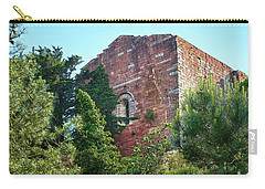The Old Monastery Of Escornalbou Surrounded By Trees In Spain Carry-all Pouch