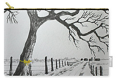 Carry-all Pouch featuring the painting The Old Oak Tree by Jack G Brauer