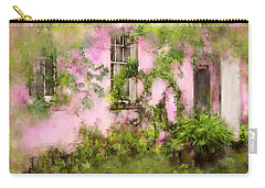 The Olde Pink House In Savannah Georgia Carry-all Pouch by Carla Parris