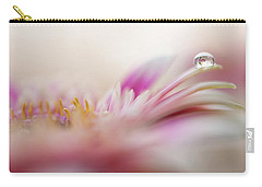 Carry-all Pouch featuring the photograph The One. Macro Gerbera by Jenny Rainbow