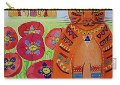 the Orange Alamo Cat Carry-all Pouch