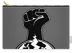 Carry-all Pouch featuring the digital art The Orchestrator Fist by Jayvon Thomas