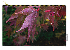 Carry-all Pouch featuring the photograph The Other Side Of Maple by Ken Stanback