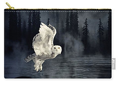The Owl And Her Mystical Moon Carry-all Pouch by Heather King
