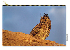 The Owl's Horns In The Breeze Carry-all Pouch by Natalie Ortiz