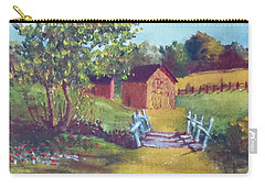 Carry-all Pouch featuring the painting The Pack Houses by Jim Phillips