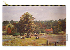 Carry-all Pouch featuring the painting The Pack Lunch by Beatrice Cloake