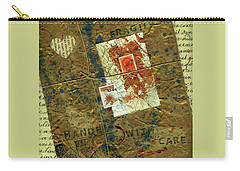 Carry-all Pouch featuring the mixed media The Package by P J Lewis