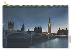 The Palace Of Westminster London Oil On Canvas Carry-all Pouch