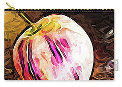 The Pale Pink Apple With The Hot Pink Stripes Carry-all Pouch