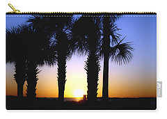 Carry-all Pouch featuring the photograph The Palms At Sunset by Debra Forand