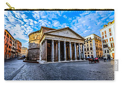 Carry-all Pouch featuring the painting The Pantheon Rome by David Dehner
