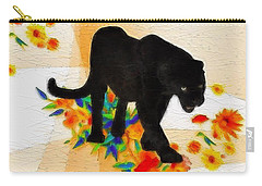 Carry-all Pouch featuring the painting The Panther In The Flowerbed by Gabriella Weninger - David