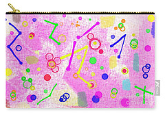 Carry-all Pouch featuring the digital art The Party Is Here by Silvia Ganora