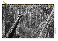 The Path Through The Woods Bandw Carry-all Pouch