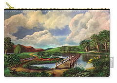 Reflections And Light Carry-all Pouch by Randy Burns
