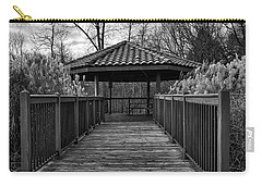 Carry-all Pouch featuring the photograph The Pavilion By The River by Kirt Tisdale