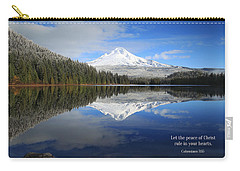 The Peace Of Christ Carry-all Pouch by Lynn Hopwood