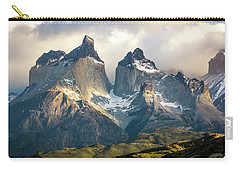 The Peaks At Sunrise Carry-all Pouch by Andrew Matwijec
