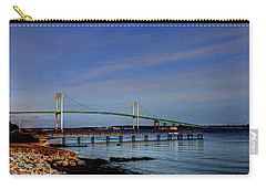 Carry-all Pouch featuring the photograph The Pell Bridge Newport Ri by Tom Prendergast