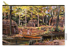 Carry-all Pouch featuring the painting The Pequots by Nancy Griswold