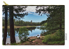 Carry-all Pouch featuring the photograph The Perfect Fishing Spot  by Saija Lehtonen