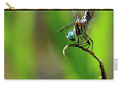 Carry-all Pouch featuring the photograph The Performer Dragonfly Art by Reid Callaway